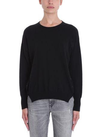 Mauro Grifoni Black Wool Sweater