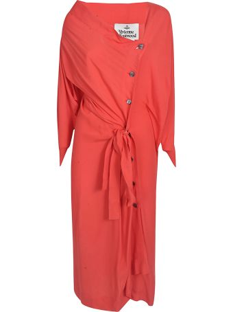 Vivienne Westwood Buttoned Gathered Dress