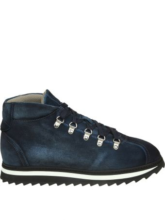 Doucal's Sneakers In Blue Suede