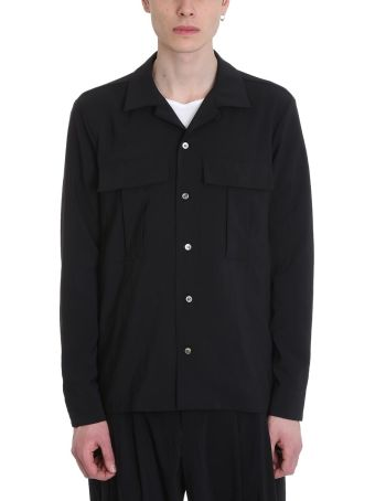 Attachment Black Polyester Shirt