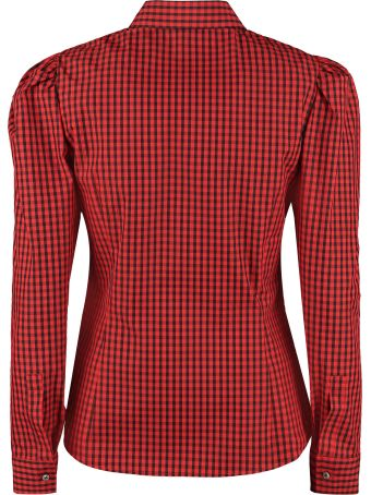 RED Valentino Long Sleeve Cotton Blend Shirt
