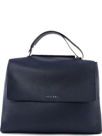 Orciani Navy Leather Sveva Bag