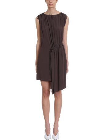 Mauro Grifoni Grey Viscose Dress