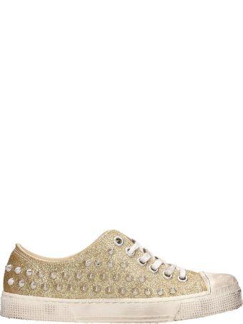Gienchi Gold Glitter Jean Michel Sneakers Low