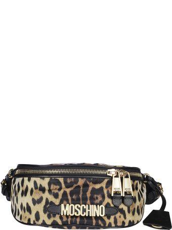 Moschino Leopard Print Belt Bag