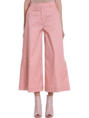 L'Autre Chose Wide Leg Cropped Trousers