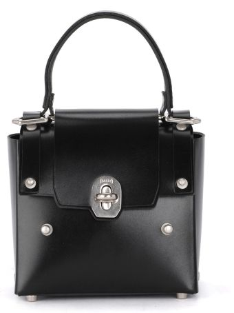 Niels Peeraer Ribbon 2pm Small Black Leather Bag