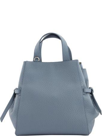 Orciani Fan Soft Medium Leather Handbag