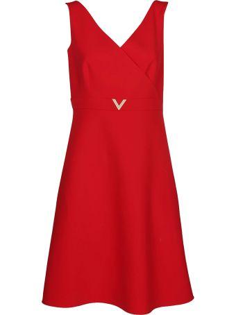 Valentino V Detail Dress