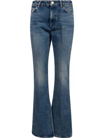 The Attico Flared Leg Long Jeans