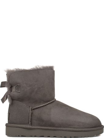UGG Gray Mini Bailey Bow Low Boot