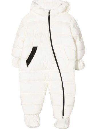 Moncler White Padded Ski Suit