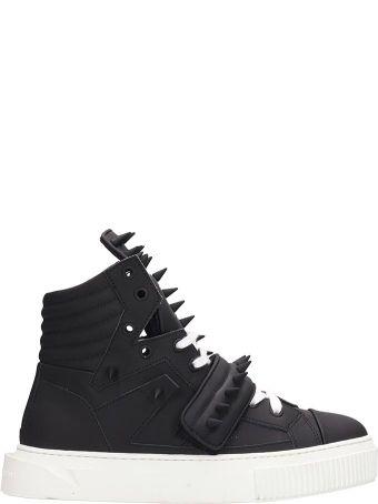 Gienchi Black Rubber Hypnos Killer Sneakers