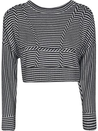 Giovanni Bedin Striped Cropped Top