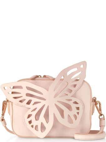 Sophia Webster Sunkissed Pink Flossy Butterfly Camera Bag