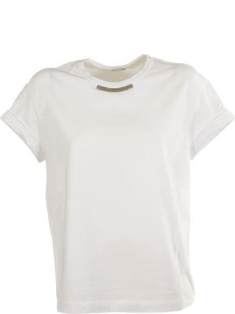Brunello Cucinelli Embellished Neck T-shirt