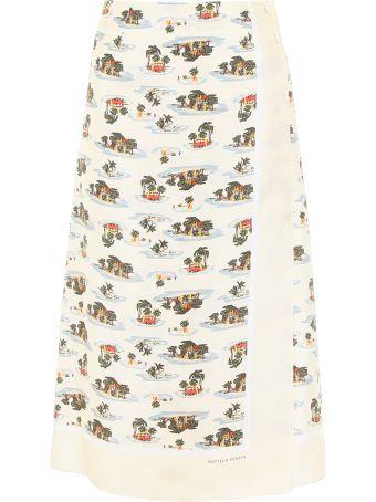 Bottega Veneta Postcard Print Skirt