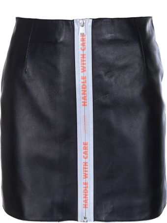 HERON PRESTON Reflective Tape Mini Skirt