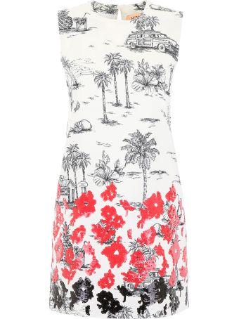 N.21 Printed Dress With Sequins
