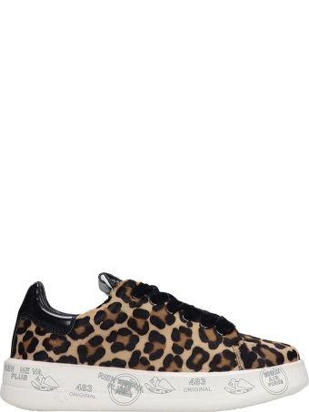 Premiata Belle Sneakers In Animalier Pony Skin