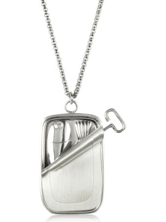 J.W. Anderson Jw Anderson Sardine Tin Pendant Necklace