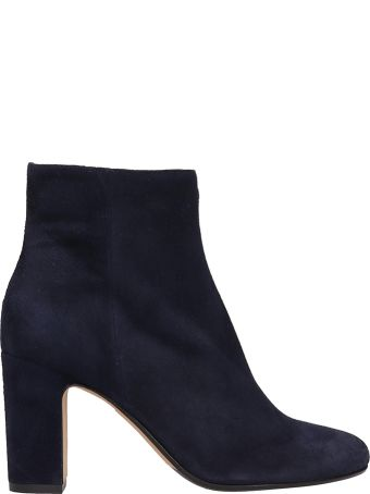 Julie Dee Blue Suede Leather Boots
