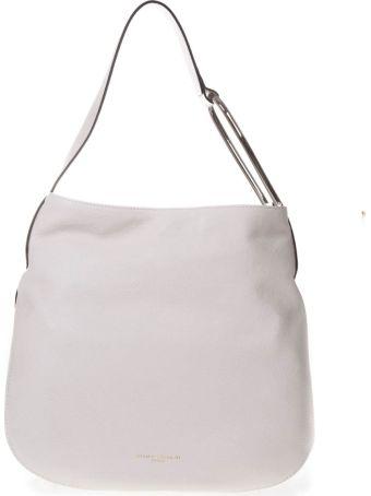 Gianni Chiarini Leather Shoulder Bag In White Color