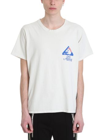 Rhude Great American White Cotton T-shirt