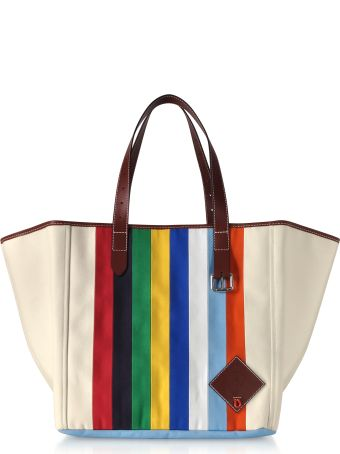 J.W. Anderson Jw Anderson Vertical Stripes Canvas Tote Bag