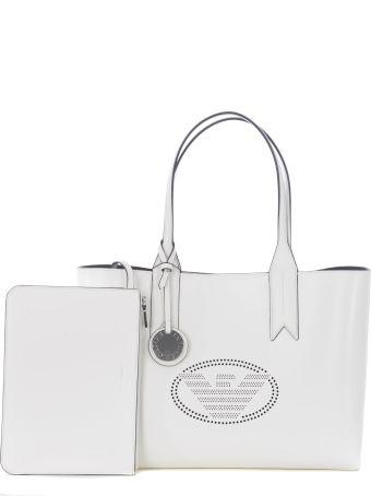 Emporio Armani Perforated Logo Shopper Bag