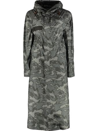 Mr & Mrs Italy Camouflage Print Long Parka