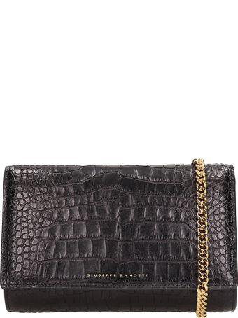 Giuseppe Zanotti Black Leather Bag