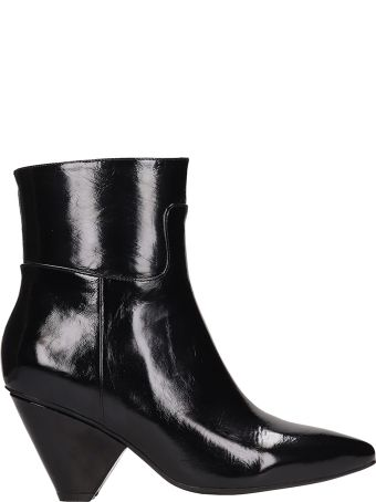 Jeffrey Campbell Black Patent Leather Ankle Boots