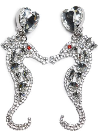 Alessandra Rich Crystal Seahorse Earrings