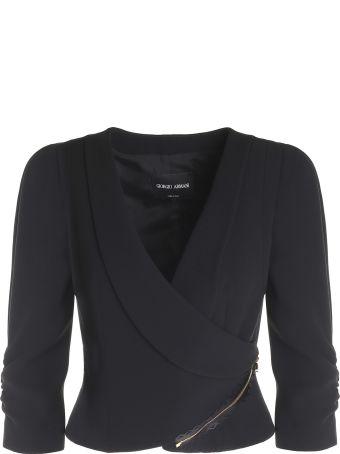 Giorgio Armani Silk-crepe Short Jacket