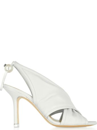 Nicholas Kirkwood White Nappa 90mm Delfi Sandals