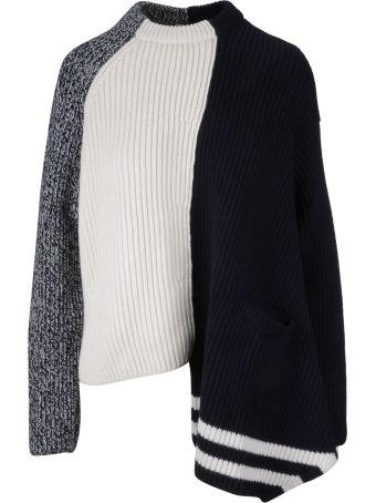Mrz Asymmetric Ribbed Knit Sweater
