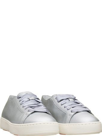 Santoni Santoni Laminated Leather Sneakers