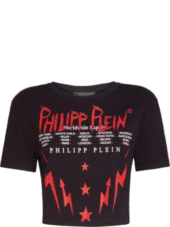 Philipp Plein Black Cotton Top