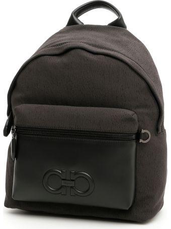 Salvatore Ferragamo Leather And Nylon Firenze Backpack