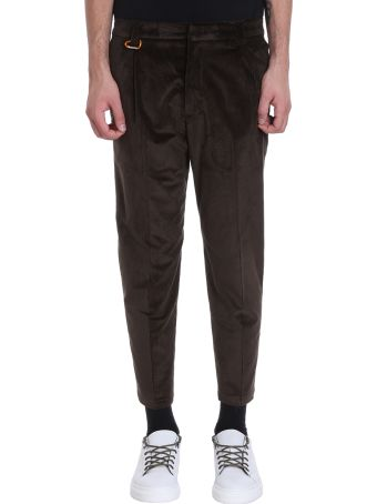 Low Brand Brown Velour Pants