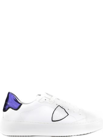 Philippe Model White Temple Veau Leather Sneaker