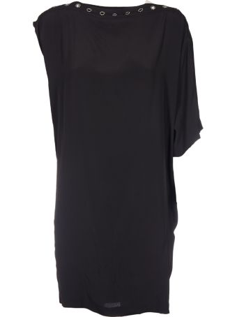 8PM Single Sleeve Studded Neck Dress
