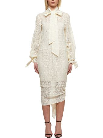 Rokh Lace Paneled Dress