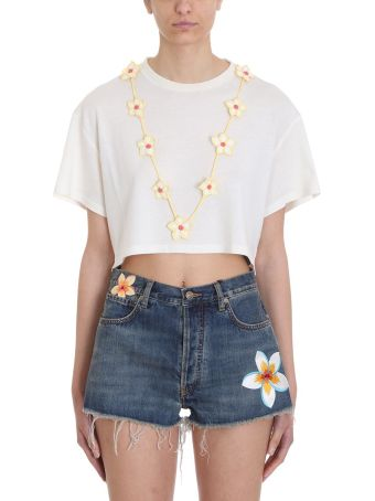 Alanui Floral Necklace T-shirt