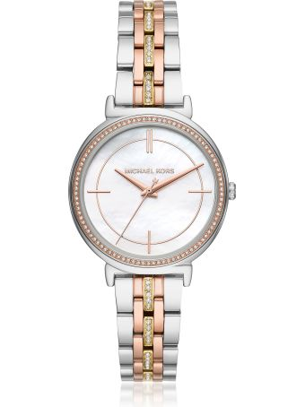 Michael Kors Cinthia Two Tone Stainless Steel Watch