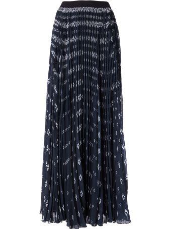 Marcelo Burlon Printed Pleated Maxi Skirt