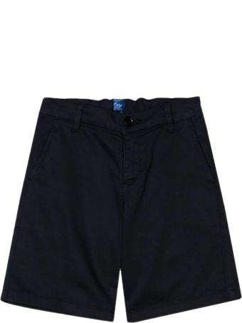 Fay Black Stretch Cotton Shorts