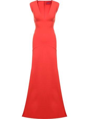 Solace London Seine V-neck Stretch-crepe Maxi Dress