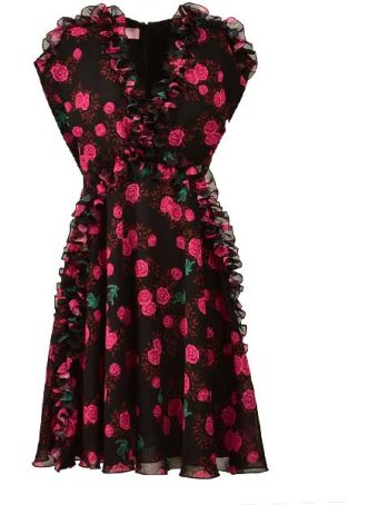 Giamba Flower Print Dress